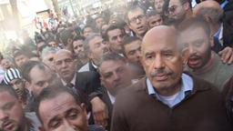 Mohammed ElBaradei im Demonstrationszug in Kairo