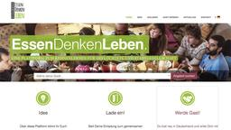 Screenshot der Website EssenDenkenLeben.