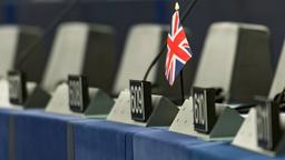Union Jack im EU-Parlament