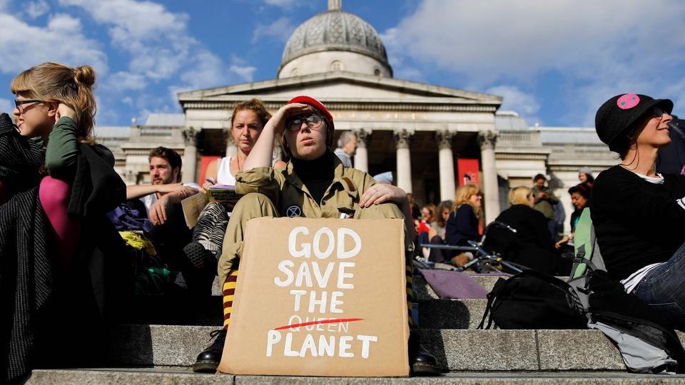 "Aktivisten von ""Extinction Rebellion"" in London 