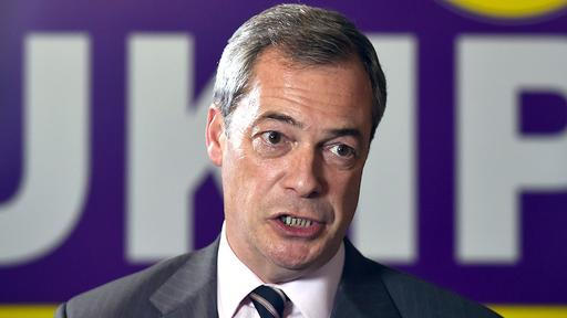 UKIP-Chef Nigel Farage | null