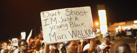 Demonstrant in Ferguson