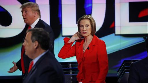 US-Republikaner Trump, Christie und Fiorina | Bildquelle: REUTERS