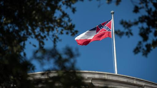 Flagge von Mississippi in Jackson | AFP