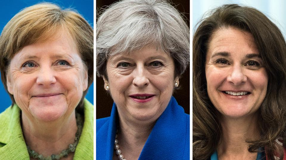Angela Merkel, Theresa May, Melinda Gates