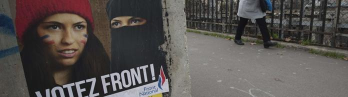 Wahlplakate des Front National