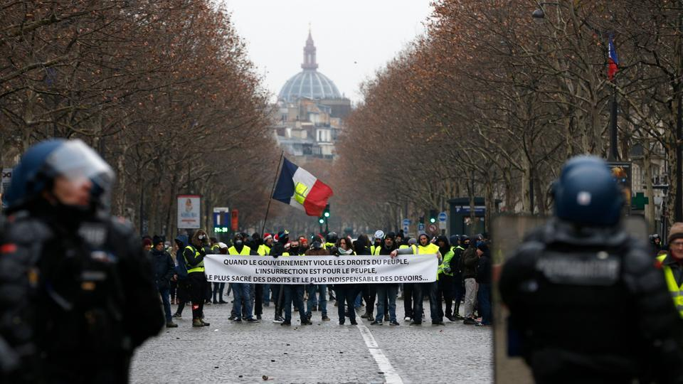 """Gelbwesten""-Protest in Paris"
