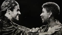George Michael mit Aretha Franklin 1988