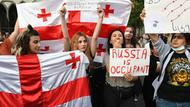 Protest gegen Russland in Georgien