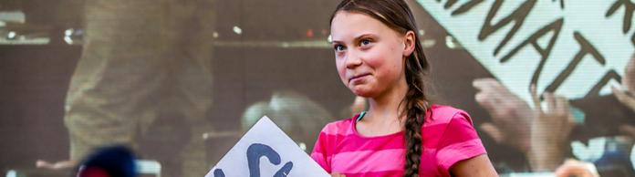 Greta Thunberg demonstriert in New York. | Bildquelle: dpa