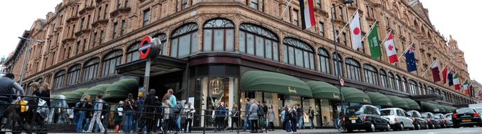 Das Kaufhaus Harrods an der Knightsbridge in London | Bildquelle: AFP
