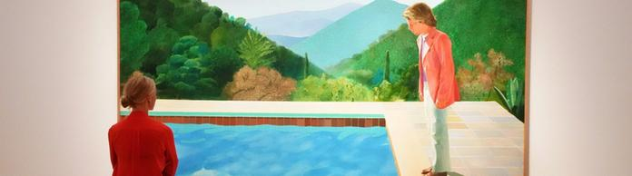 "Hockney-Bild ""Portrait of an Artist (Pool with Two Figures)"" 