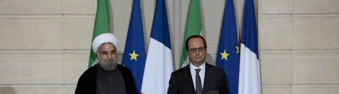 Hollande und Rouhani in Paris | Bildquelle: AFP