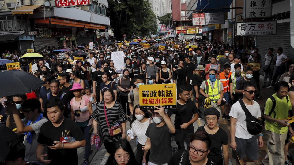Demonstrationen gegen Grenzhändler in Hongkong