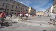 Russische Hooligans in Marseille (Screenshot aus Youtube-Video)