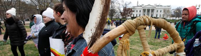 Protest der Indianer in Washington | Bildquelle: AP
