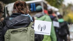 Linke-Demo gegen Repression in Frankfurt (Main) | Bildquelle: imago/Tim Wagner