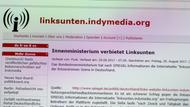 Screenshot der Internetseite Linksunten.Indymedia