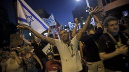 Demonstranten in Tel Aviv | Bildquelle: dpa
