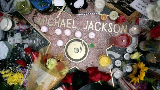 "Michael Jacksons Stern auf dem ""Hollywood Walk of Fame"""