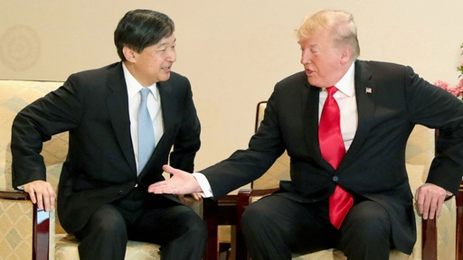Staatsbesuch in Japan: Trump trifft Kaiser Naruhito