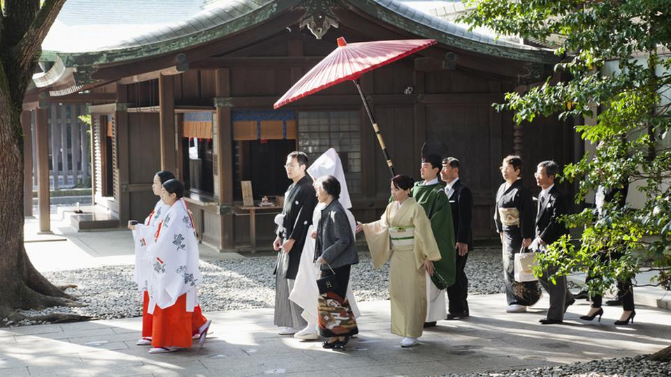 Traditionelle Hochzeit in Japan