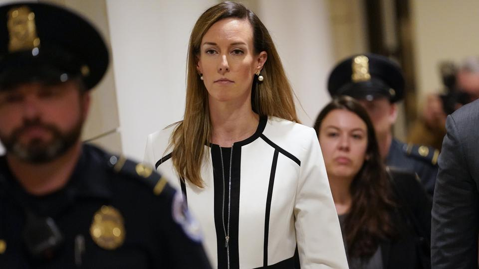 Die Zeugin Jennifer Williams im Kapitol in Washington.