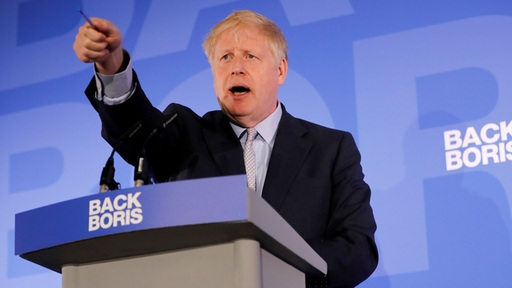 Boris Johnson presents his plans in the race for the Tories party leadership.  |  AFP
