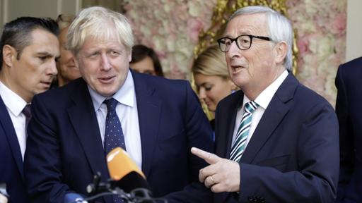 Johnson in Luxemburg: Juncker bleibt geduldig