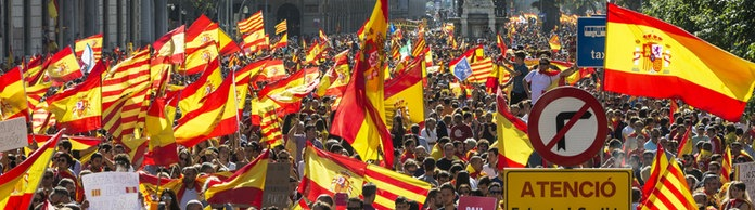 Demonstration gegen Separatismus in Barcelona | Bildquelle: dpa