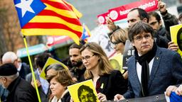 Puigdemont bei Demonstration in Belgien