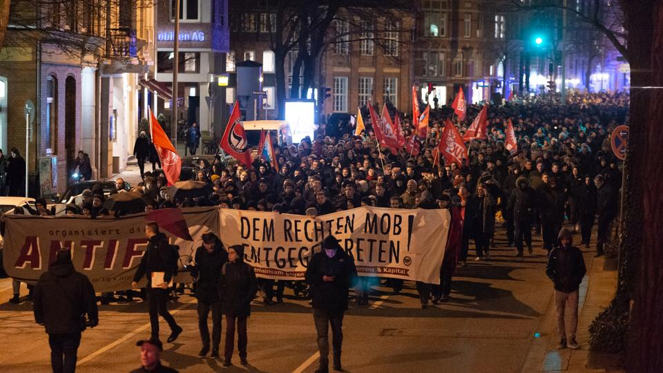 Demonstration in Hamburg | Bildquelle: dpa