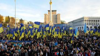 Nationalistische Demonstranten in Kiew | Bildquelle: AFP