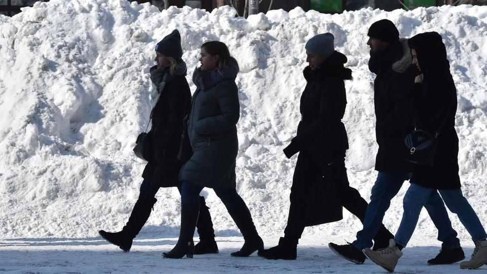 Eisiges Winterwetter in Kiew | Bildquelle: AFP