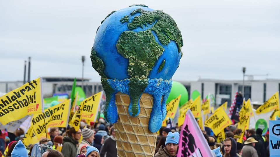 der Global Climate March in Berlin