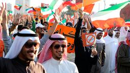 Demonstration in Kuwait-Stadt