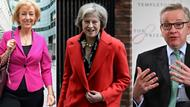 Cameron-Nachfolge: Andrea Leadson, Theresa May und Michael Gove