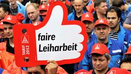 Demonstration für faire Leiharbeit in der Metallindustrie | Bildquelle: picture alliance / dpa