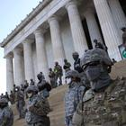 Soldaten auf den Stufen des Lincoln Memorial in Washington D.C. | AFP