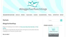 Screenshot blogger-fuer-fluechtlinge.de