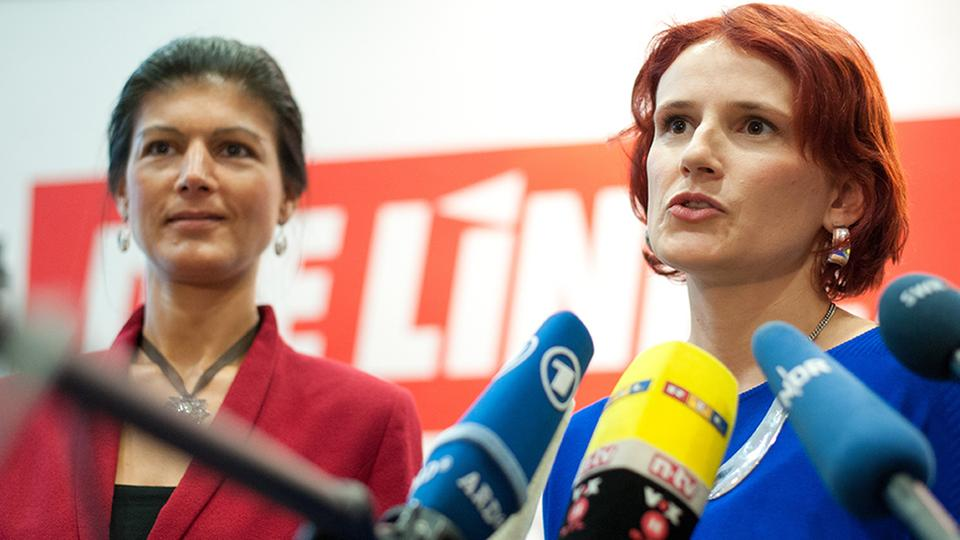 Sahra Wagenknecht und Katja Kipping (Archivbild September 2013) | Bildquelle: picture alliance / dpa