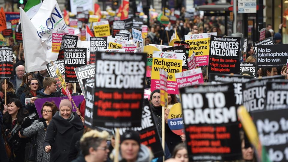 Proteste in London | Bildquelle: dpa