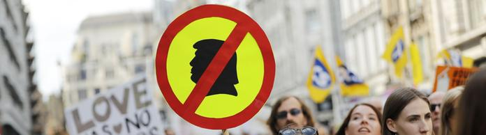 Demonstration in London gegen US-Präsident Trump | Bildquelle: AFP