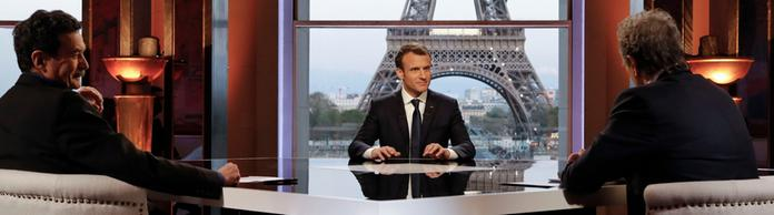 Macron bei einem TV-Interview | Bildquelle: FRANCOIS GUILLOT/POOL/EPA-EFE/RE