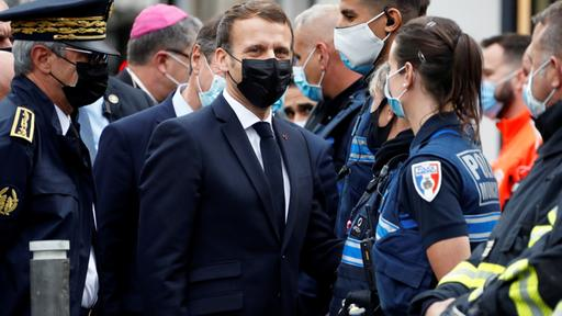 Emanuel Macron in Nizza