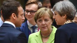 Marcron, Merkel und May (Archivbild)