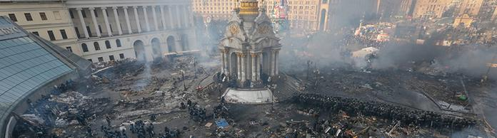 Der Maidan in Kiew nach der Eskalation (Archivbild)