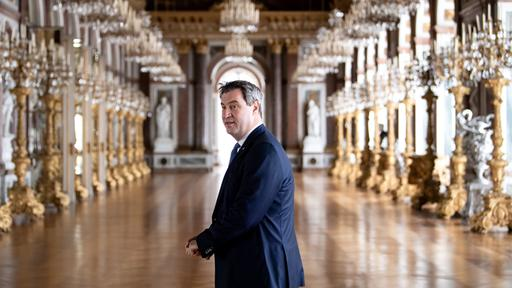 Markus Söder im Schloss Herrenchiemsee | Bildquelle: picture alliance/dpa