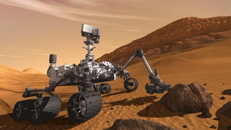 "Mars-Rover ""Curiosity"" (zu deutsch Neugier)- NASA-Computersimulation"