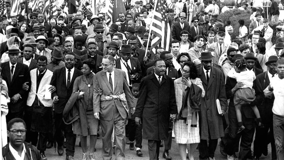 Martin Luther King Marsch auf Selma | Bildquelle: picture-alliance / dpa